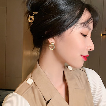 Retro Metallic Gold Multiple Small Circle Pendant Earrings New Jewelry fashion Wedding Party Unusual Earrings For Woman 2