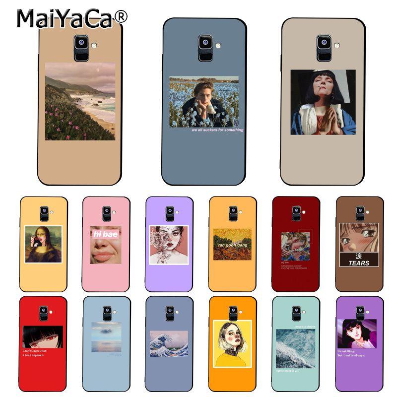 Aesthetic Van Gogh Mona Lisa David Phone Case For Samsung Galaxy A7 A50 A70 A40 A20 A30 A8 A6 A8 Plus A9 A71 A51