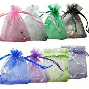 25 Pcs Organza Jewelry Wedding Party Pouch Drawstring Gift Storage Bags