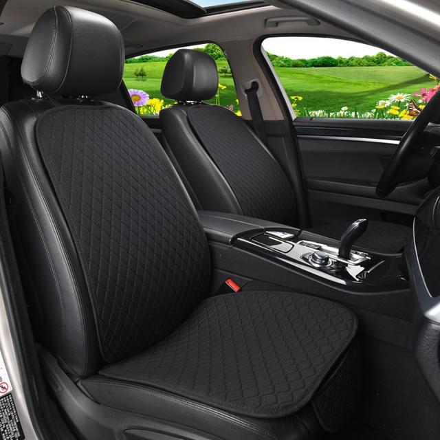 Pokrowiec na siedzenie samochodu Auto len przód tył tylne oparcie poduszka siedziska dla Auto Automotive Interior Truck Suv lub Van