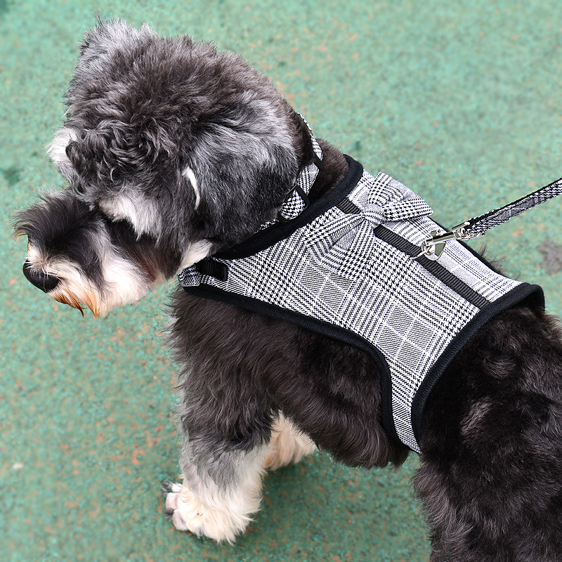 Pet Dog Chest And Back Dog Traction Bow Anti-Strain Nylon Dog Clothes Chest And Back Traction Belt