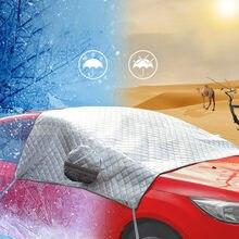 2020 su geçirmez araç ön camı kar kapağı güneş gölge koruyucu kalın kar koruma kapağı ekstra kalın çift katmanlı tasarım