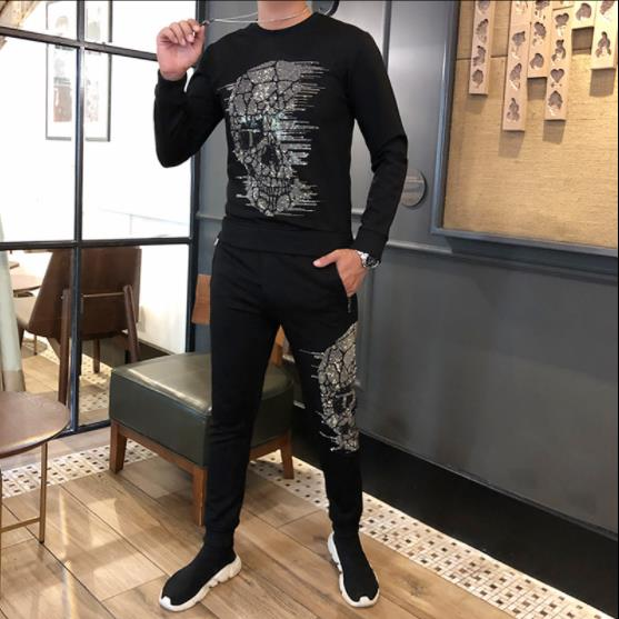 Men Tracksuit Set Winter G Suit Sweatsuit Male Sportswear Jackets Sweatshirts + Pants Casual Brand Clothing