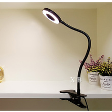 LED Desk Lamp 5W with Clamp Dimmable Reading Light Eye-Care USB Table Lamp LED Bedside Lamp Baby Night Light Clip
