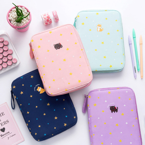 Image 1 - Korea Multifunction School Pencil Case & Bags Large Capacity Canvas Pen Curtain Box For Boy Students Gifts Stationery Supplies