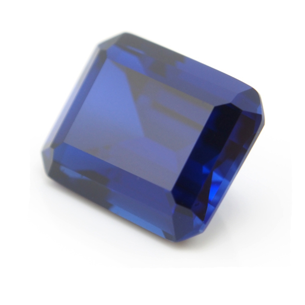 13*18mm 2 Piece /alot Top Quality Blue Sapphire Emerald Cut Loose Gemstone DIY Stones For Ring Making