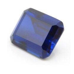 13*18mm 2 Stuk/veel Top Kwaliteit Blue Sapphire emerald cut Losse Edelsteen DIY Stenen voor ring maken
