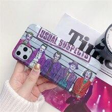 Funda de teléfono guay de payaso de película Joker para iPhone 11 Pro Max Capa para iPhoneX XR XS Max 7 8 Plus, funda de moda divertida IMD