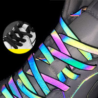 Cordones reflectantes holográficos de 120/140/160cm para mujer y hombre, cordones de zapatos que brillan en la oscuridad para zapatillas deportivas, soga para calzado