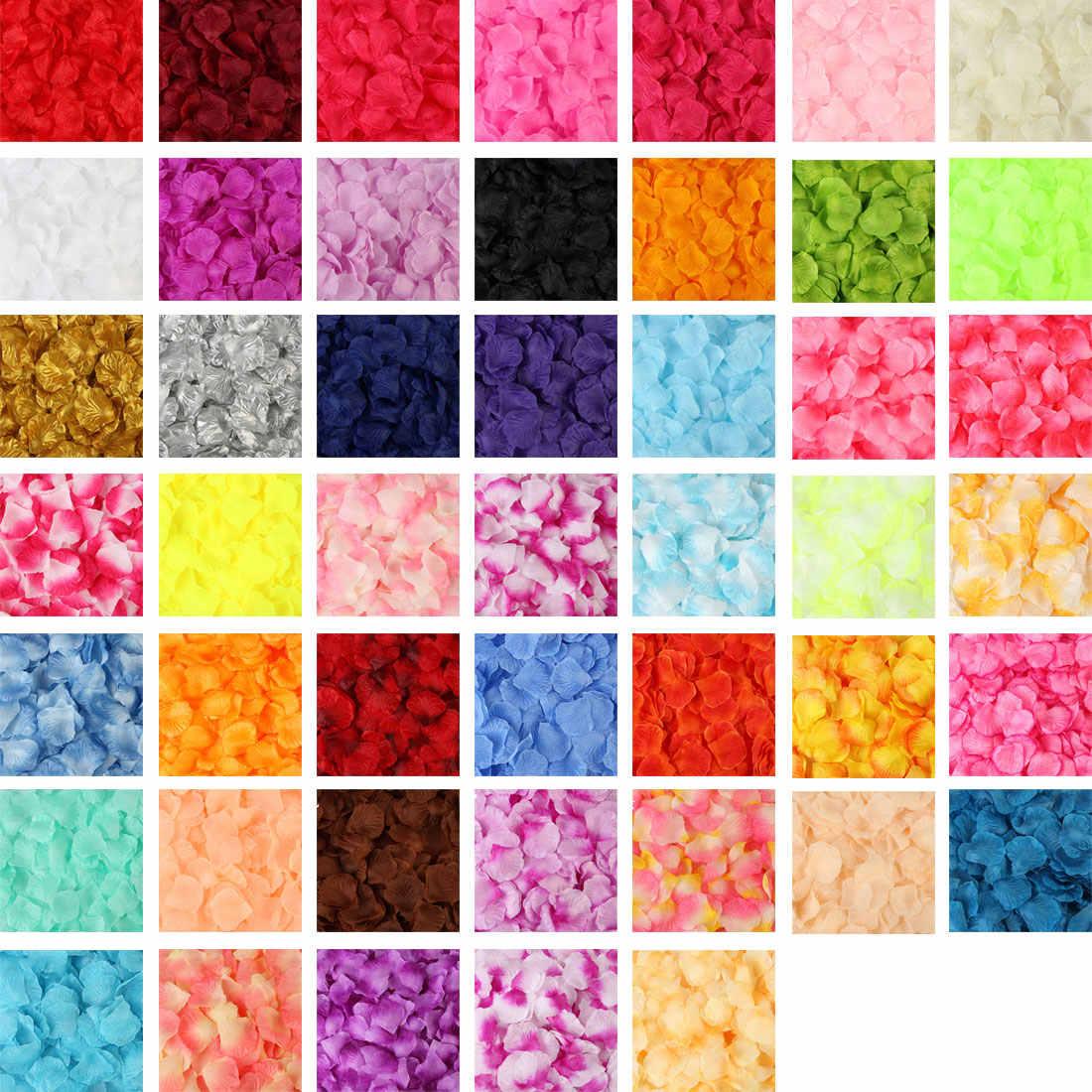 100 Pcs/set Buatan Bunga 5*5 Cm Rose Kelopak Colorful untuk Aksesori Pernikahan Rumah Natal Bunga Palsu Tahun Baru dekorasi