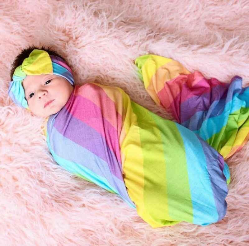 Couverture pour nouveau-né fille | Sac à couchage doux, motif Floral, ensemble pour bandeau
