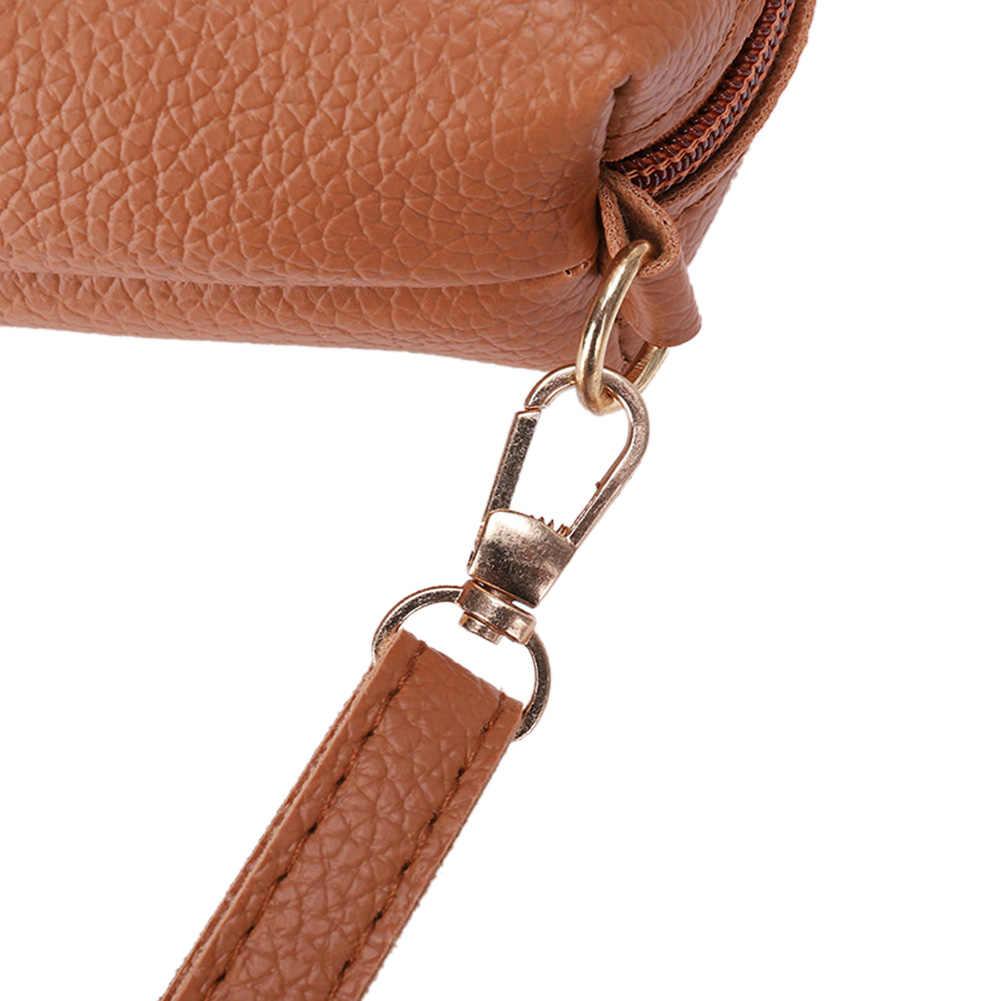 Fashion Sederhana Tas Selempang untuk Wanita Wanita Pu Kulit Mini Zipper Bahu Tote Messenger Tas Dompet Bolsas Feminina Sac dos
