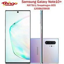 Разблокированный телефон Samsung Galaxy Note10 + Note10 Pro N975U N975U1, телефон с экраном 855 дюйма, Восьмиядерный процессор Snapdragon 6,8, тройная камера 12 Гб и 256 ГБ