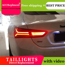 Estilo do carro luzes traseiras led para chevrolet malibu 16 19 luz traseira led correndo + sinal de volta dinâmico + reverso freio um conjunto