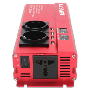 Auto Inverter 6000W Spitzen DC 12V/24V Zu AC 220V LED Display & EU Stecker power Inverter Volt Konverter Ladegerät Inverter Transformator