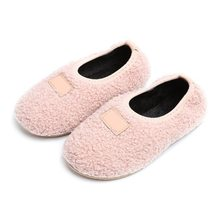 Children Autumn Shoes Kids Babys Girls Boys Fluff Non-Slip Cotton Warm Shoes Plush+Rubber Children\'s Shoes Size 21-30(China)