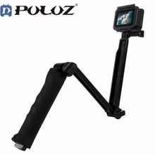 Puluz 3 Way Floating Handle Grip Tripod Mount Selfie Stick for Go pro HERO 6 5 4 3+ 3 2 1 For Gopro Hero Accessories терка для ног деревянная основа двухсторонняя solinberg ширина 60 мм