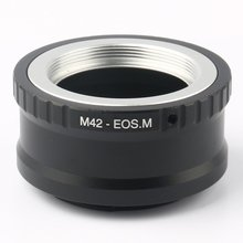 For M42-EOS M Mount Adapter Ring for M42 Screw Lens to Canon EF-M Mirroless Camera M1 M2 M3 M10 mcoplus 12mm f 2 8 manual ultra wide angle lens aps c for canon eos ef m mount mirrorless camera eos m eos m2 eos m10 eos m3