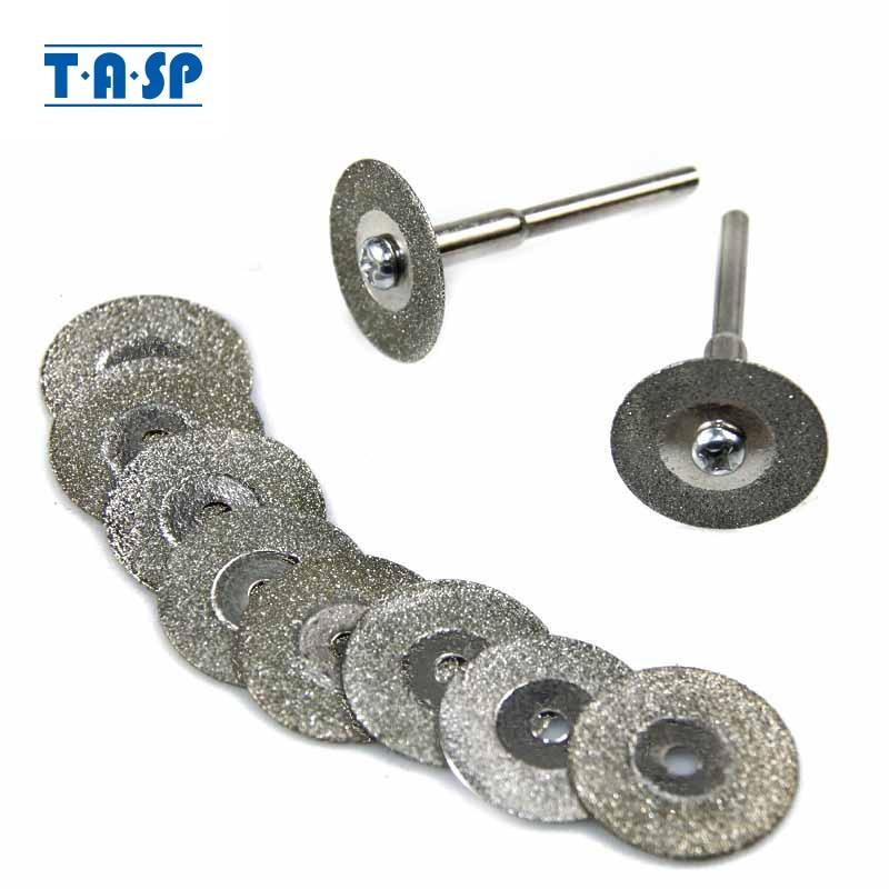 TASP 10pcs 20 میلی متر تیغه های برش با روکش الماس مجموعه ای از چرخ های چرخشی لوازم جانبی برای چرخش ابزار با 3.2 میلی متر Shank MMD001A3