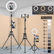 Photography Tripod Stand-Bracket Ring-Lamp Selfie-Light Mobile-Phone Photo-Studio Video-Live