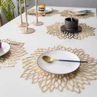 Salvamanteles Urijk para mesa de cocina, posavasos redondos de PVC, manteles individuales antideslizantes, estera occidental