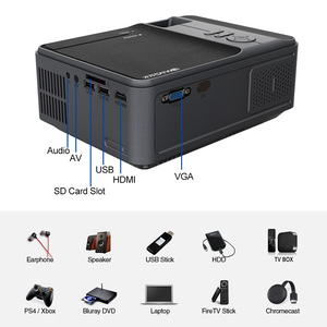 Image 5 - C180AB נייד מיני אלחוטי WiFi LED חכם אנדרואיד מקרן 720p מובנה רמקול Bluetooth מלא HD קולנוע ביתי וידאו Beamer