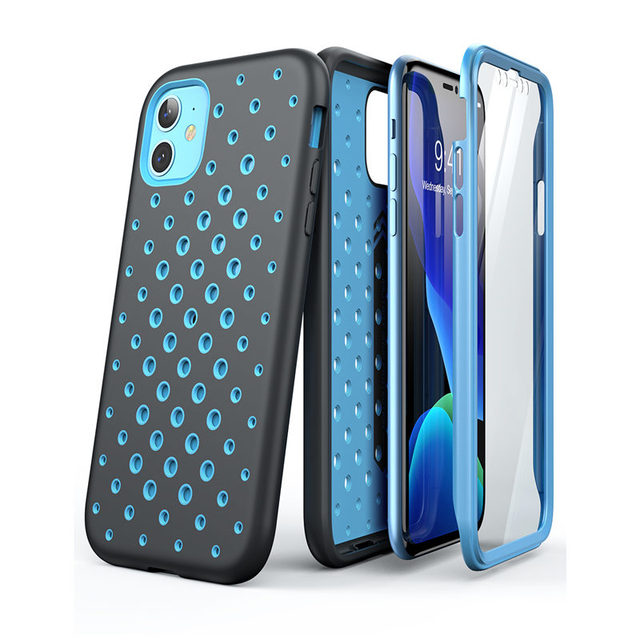 "SUPCASE For iPhone 11 Case 6.1"" (2019) UB Sport Premium Hybrid Liquid Silicone Rubber + PC Cover With Built in Screen Protector"