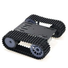 TP101 Metal Smart Crawler Robot Tank Chassis Kit with 33GB-520 12V DC Motor Aluminum Alloy Panel DIY For Arduino Toy(China)