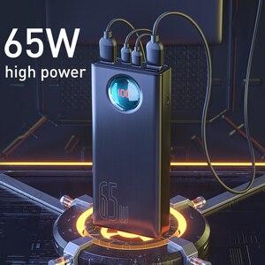 Image 2 - Baseus PD 65W güç bankası 30000mAh güç bankası QC 4.0 SCP AFC iPhone için hızlı şarj Macbook pro dizüstü bilgisayar harici pil şarj cihazı