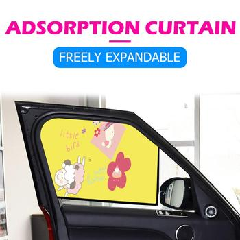Magnetic Car Sun Shade Cartoon Sheep Side Window UV Protection Curtain Sunshade Freely Expandable Cool Driving Experience image