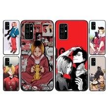 Capa de silicone kozume kenma haikyuu anime para huawei honor 30i 10x 30s 9a 9s 9x 30 9c 20 20s v20 10i 10 7c pro lite caso de telefone