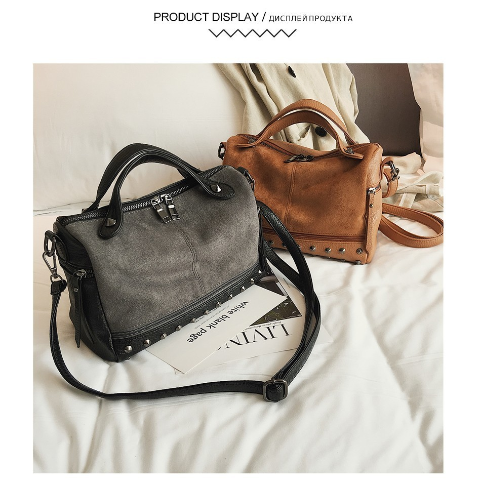 Habe488fc934d4507be7d2739aae50c084 - Fashion Women Top-handle Bags with s Large High Quality Leather Female Shoulder Bag Vintage Motorcycle Tote Bags Sac