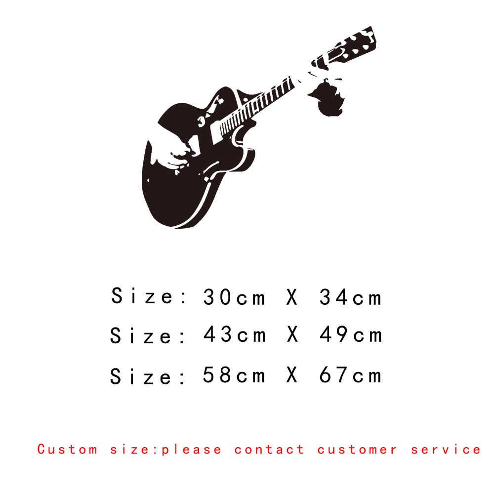 Виниловая настенная наклейка для гитары и музыки, домашний декор, сделай сам, украшение для гостиной, спальни