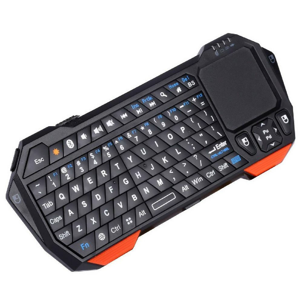 Mini clavier sans fil Bluetooth rétro-éclairé Portable trèfle d'abeille pour iOS Android Windows Mini clavier Bluetooth r60