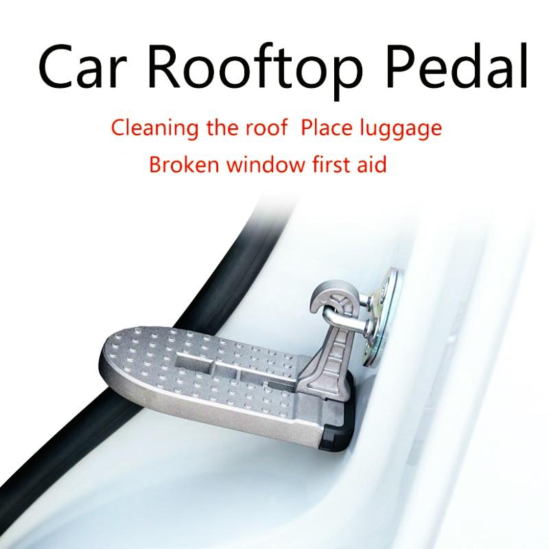 자동차 옥상 지붕 랙 페달 차량 지원 쉬운 액세스 자동차 페달에 걸려 문 단계 지프 Suv 트럭에 대한 발 못
