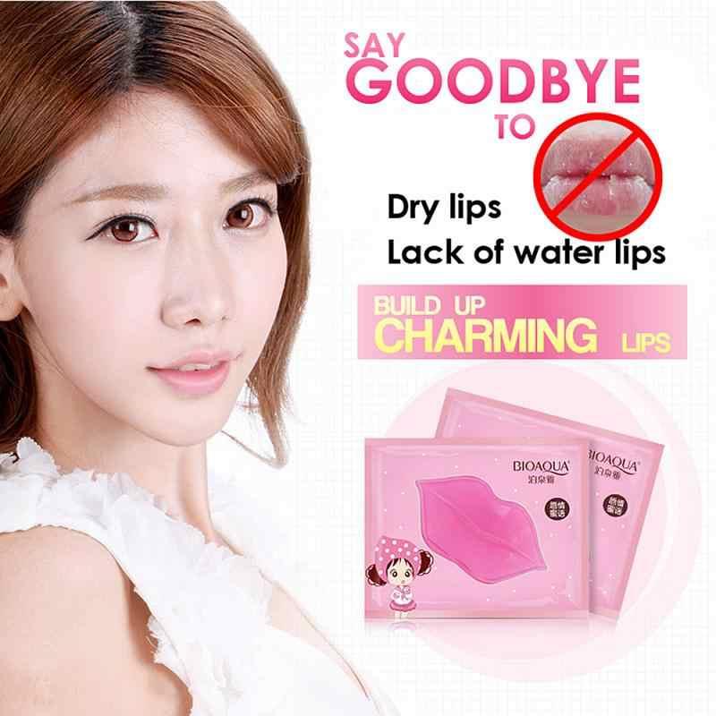 Nuevas almohadillas de máscara de labios de colágeno de cristal para mujer, esencia de humedad, antiarrugas, cuidado humectante para labios, productos de maquillaje para la piel TSLM1