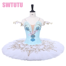 Adult Nutcracker Blue White Ballet Tutu Girls Professional Stage Cosutme Junior Sleeping Beauty Classical TutuBT9234A