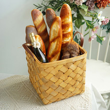Soft bread simulation kitchen props, sample room display fake bread combination, simulation baguette long bread