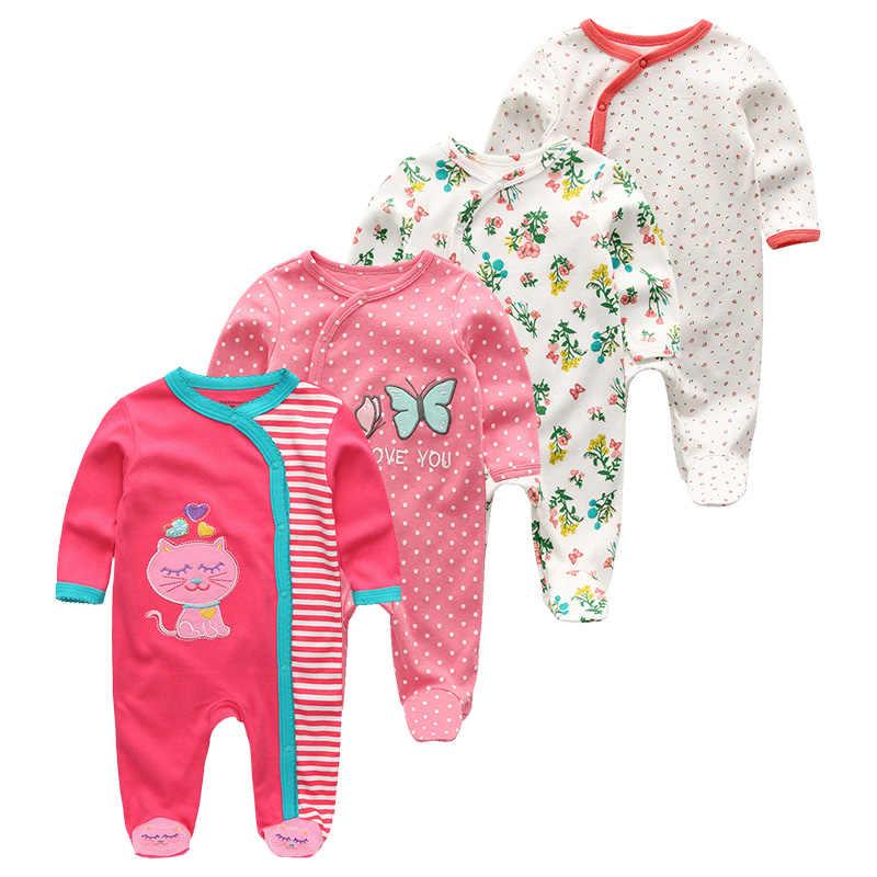 2020 3 4 개/몫 여름 아기 소년 roupa de bebes 신생아 긴팔 코튼 잠옷 0-12 개월 Rompers 아기 옷
