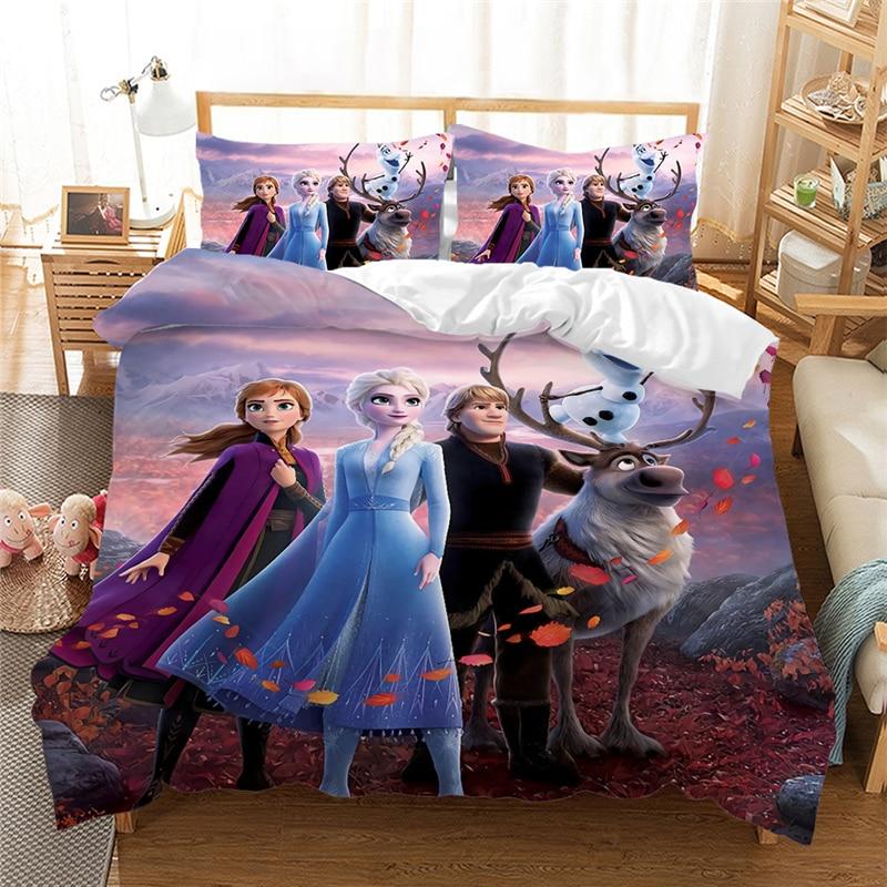 Frozen Anna Elsa Bedding Set Duvet, Frozen Bed Set Queen