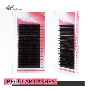 Individual Eyelash Lashes Extension Soft Volume Lashes Extension Professionals C/D Curl Silk Mink Eyelashes JTFIL 12Rows/Box