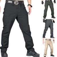 Мужские тактические штаны, модные, с несколькими карманами, в стиле хип-хоп, бегуны, спортивные штаны, водонепроницаемые, военные, походные, ...