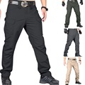 Calças táticas masculinas moda multi bolsos hip hop corredores calças de suor à prova dwaterproof água militar caminhadas ao ar livre 3xl