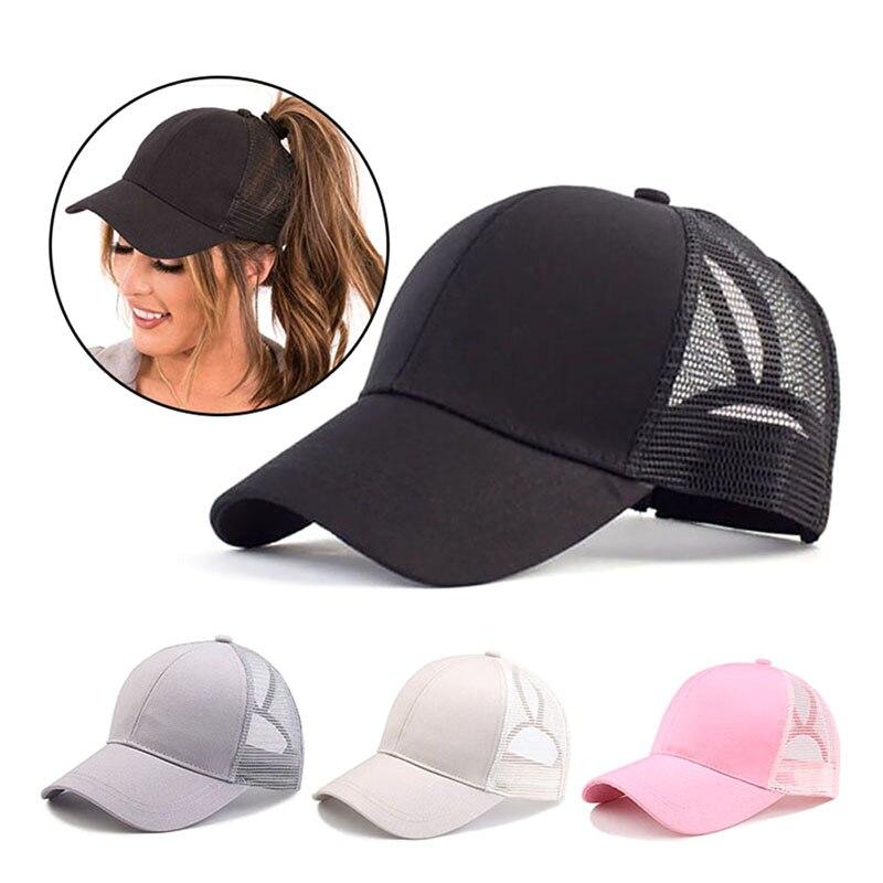 Fashion Baseball Cap Women Adjustable Ponytail Mesh Snapback  Summer Hat  Unisex Sun Hat For Women Bone Casquette Hip Hop Cap