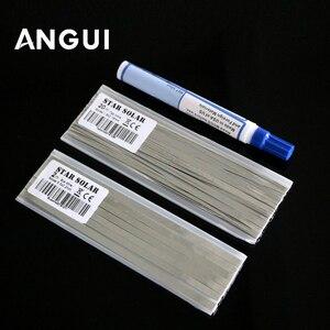 Image 1 - Kit Zonnepaneel 1.8X0.16 5.0X0.2 Mm Zonnecellen Tab Bus Bar Draad Voor Pv Lint Tabben kabel Voor Diy Sluit Strip