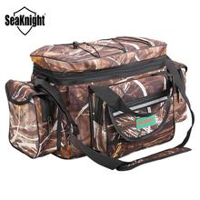SeaKnight SK003 Fishing Bag Reel lure Bag Multifunction Fishing Backpack 50cm*27cm Reel Case Camouflage Khaki Fishing Tackle Bag