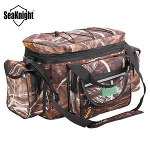 Image 1 - SeaKnight SK003 Fishing Bag Reel lure Bag Multifunction Fishing Backpack 50cm*27cm Reel Case Camouflage Khaki Fishing Tackle Bag