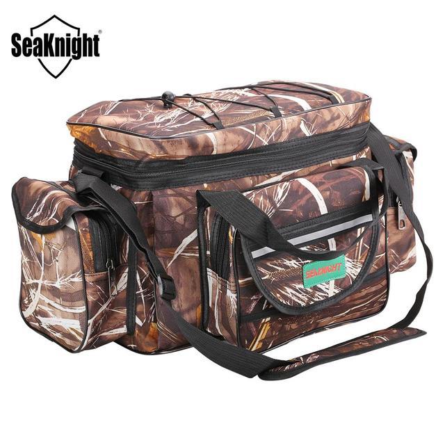 SeaKnight SK003 Fishing Bag Reel lure Bag Multifunction Fishing Backpack 50cm*27cm Reel Case Camouflage Khaki Fishing Tackle Bag