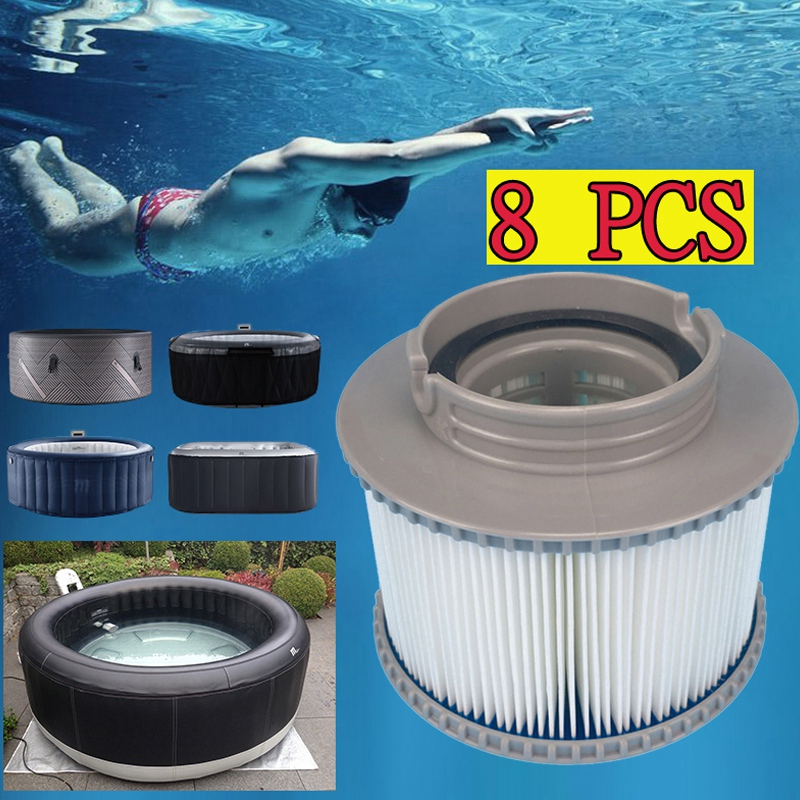 Lovely 8 X Inflatable Spa Filter For Mspa Filter Cartridge Netherlands Spain Norway Spa Pool Filter Replacement Filter Elegant In Smell