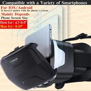 Image 3 - Blu Ray VR realtà virtuale scatola per occhiali 3D Stereo VR Google casco per cuffie in cartone per Smartphone Android IOS, Bluetooth Rocker